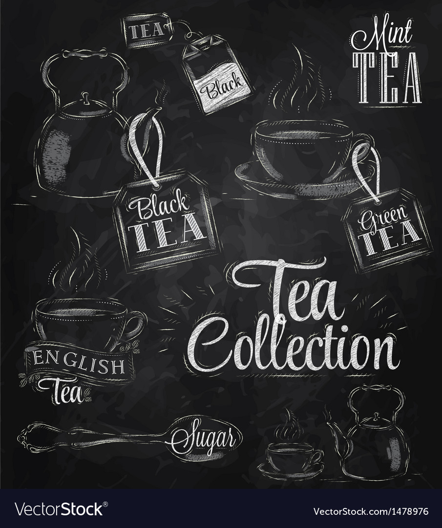 Set Tea Collection chalk