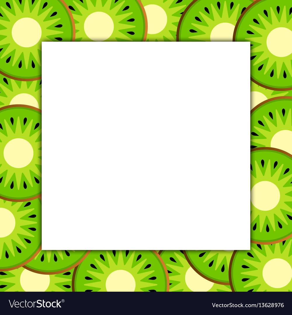 Square frame on ripe kiwi