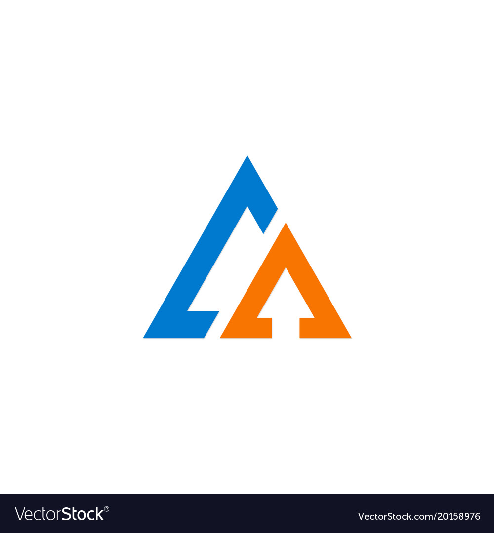 Triangle pyramid company logo vector image