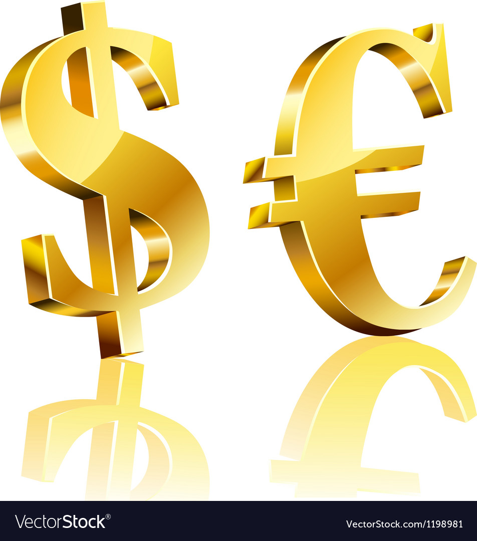 Dollar And Euro Sign Vector Image