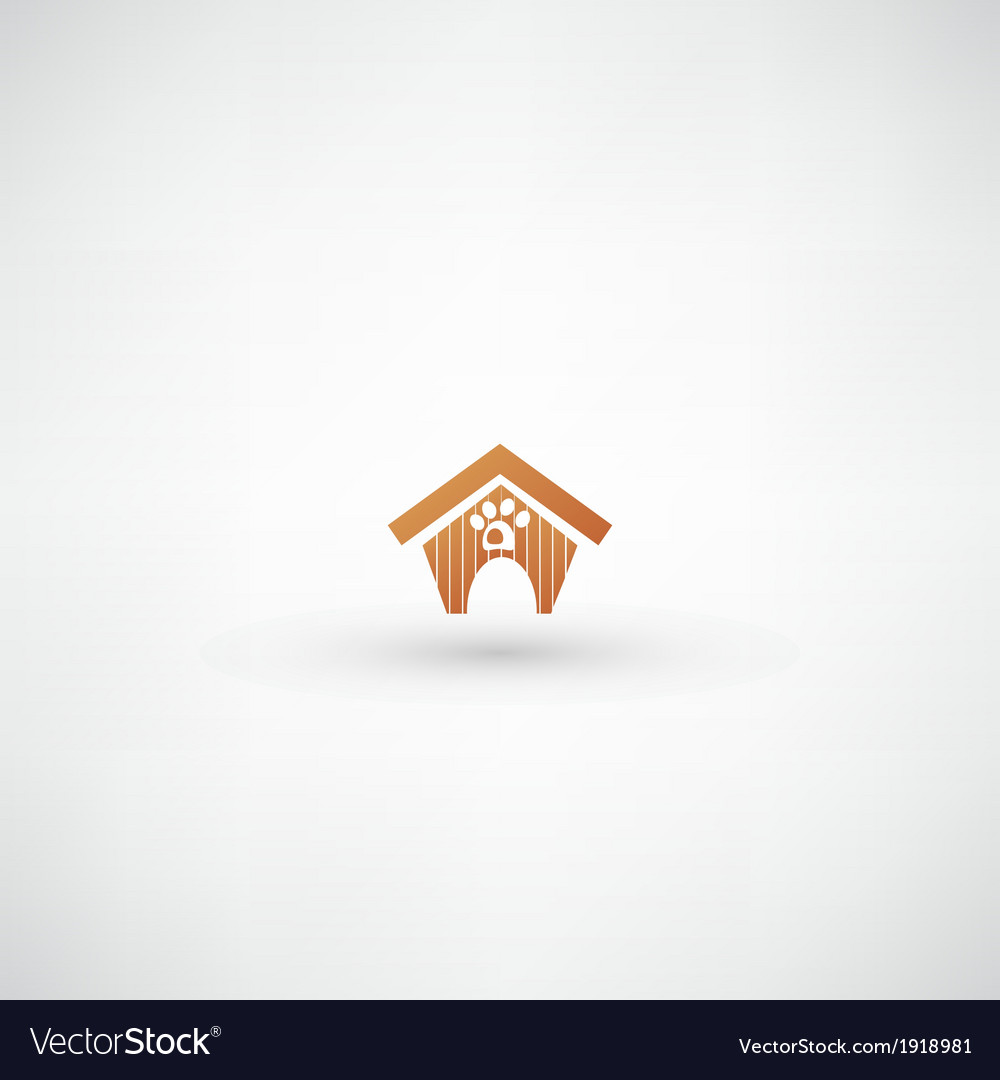 Dog house sign vector image