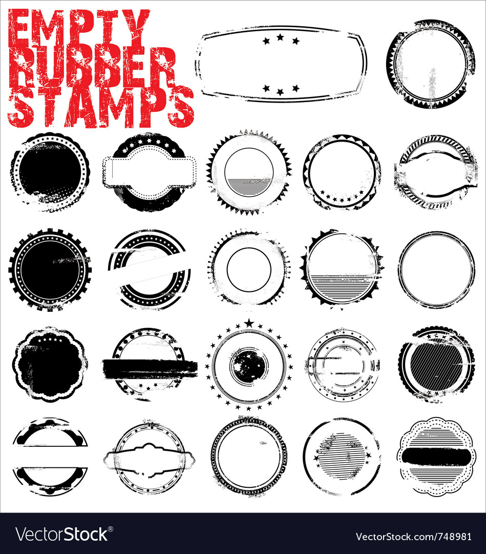 Empty grunge rubber stamps