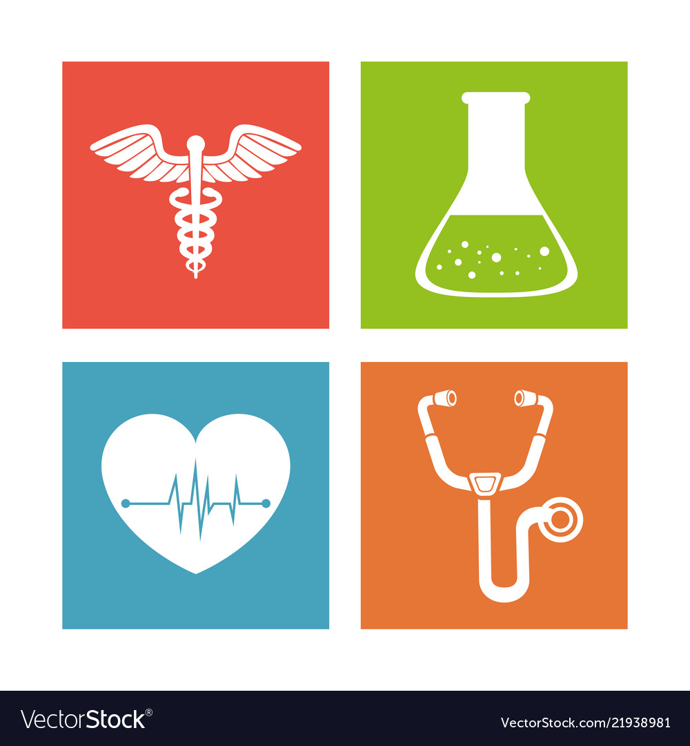 Medical healthcare set icons