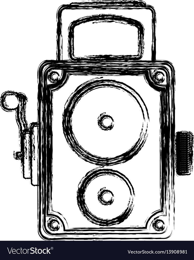 Vintage retro videocamera vector image