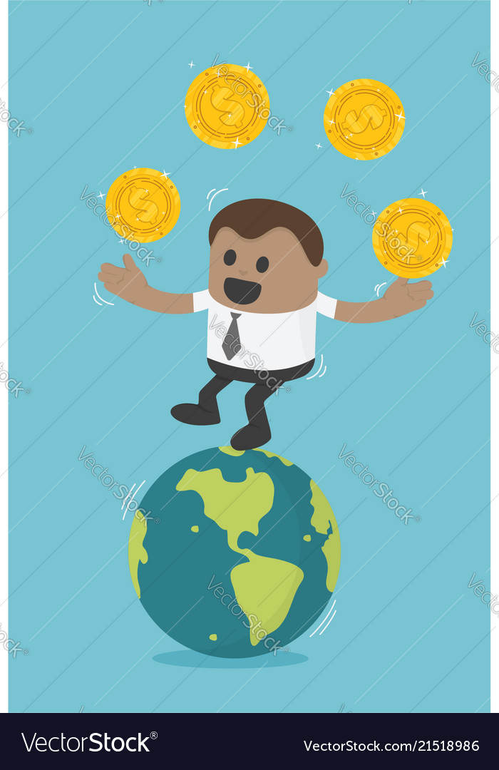 African businessman concept business transfer of