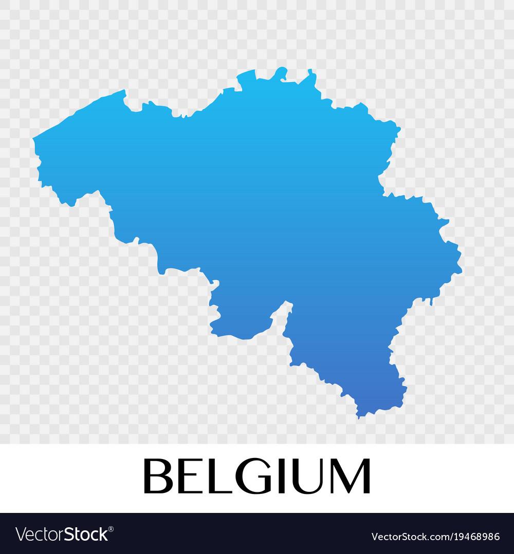 Belgium map in europe continent design
