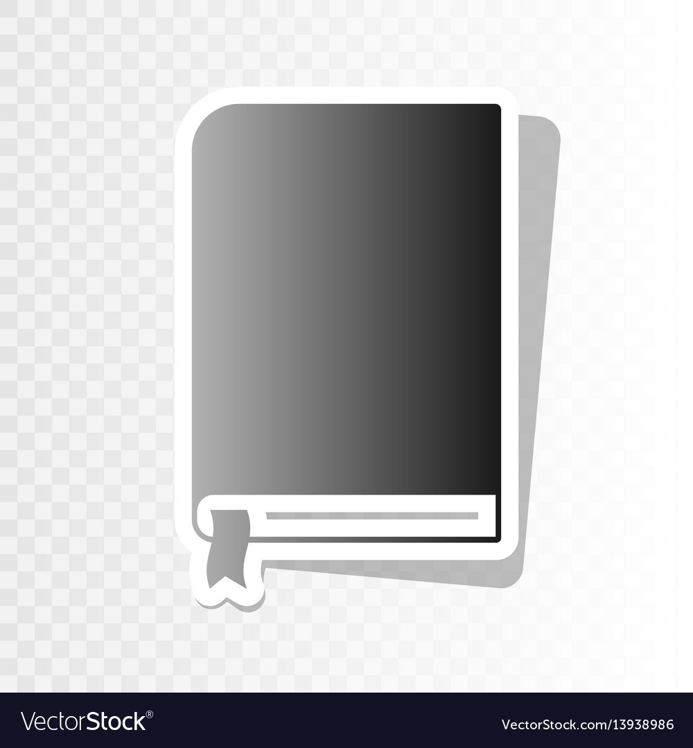 Book sign new year blackish icon on vector image