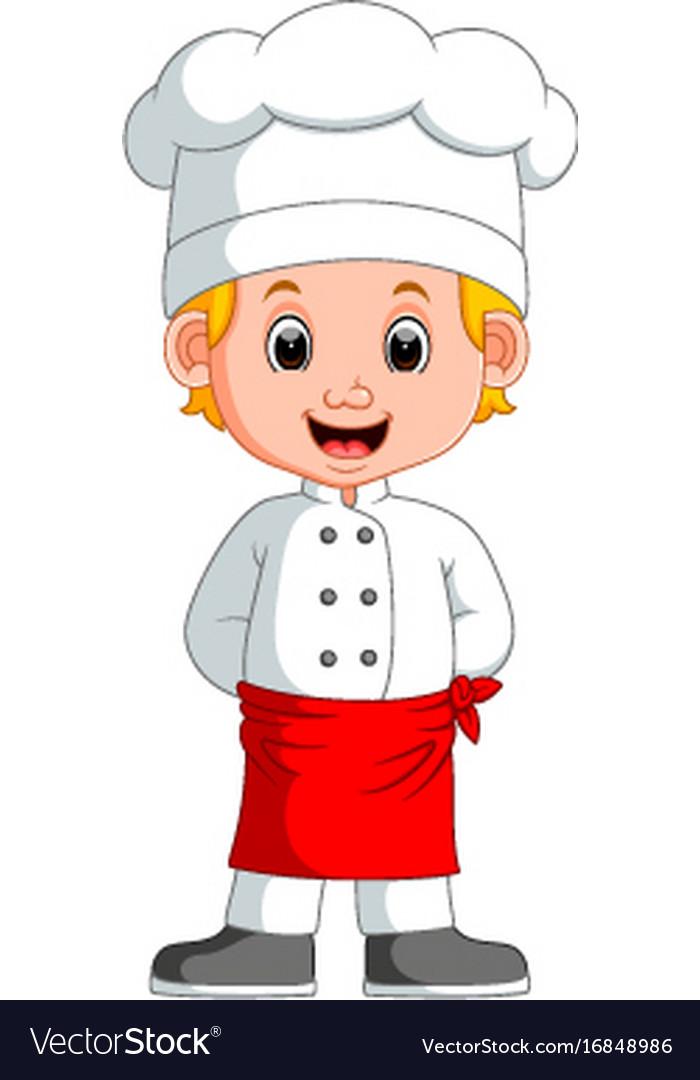 Boy chef cartoon Royalty Free Vector Image - VectorStock