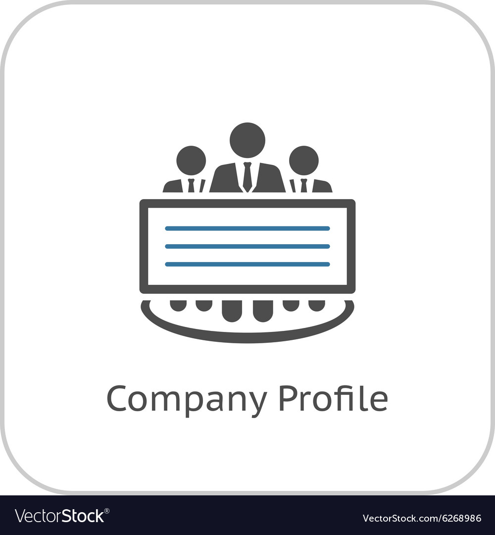 Company Profile Icon Flat Design vector image