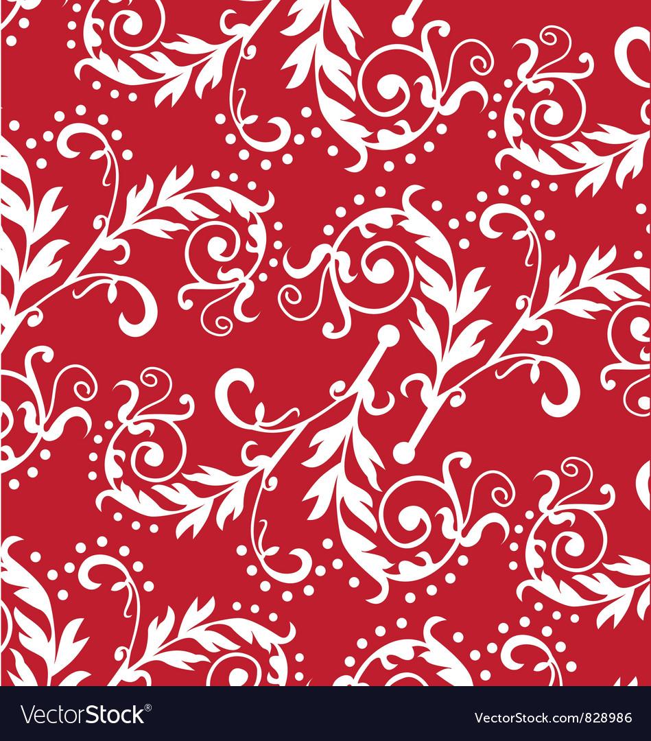 Floral wallpaper vector image