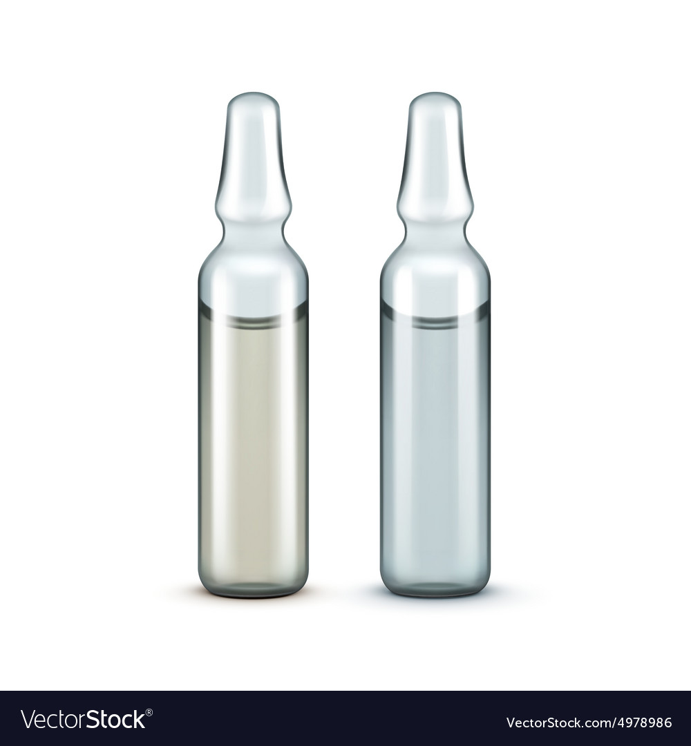 Glass Medical Ampoules Bottles Isolated