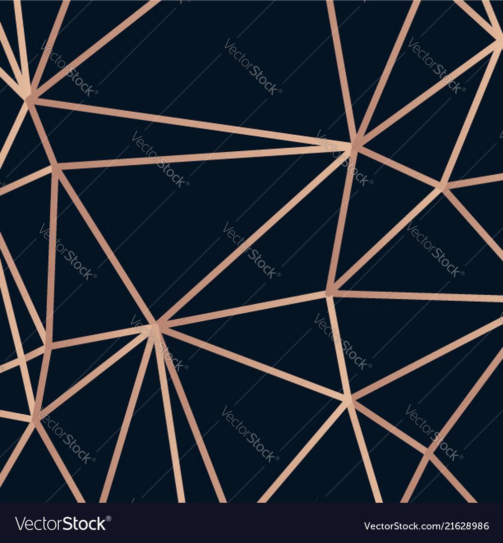 Golden lines triangle on dark