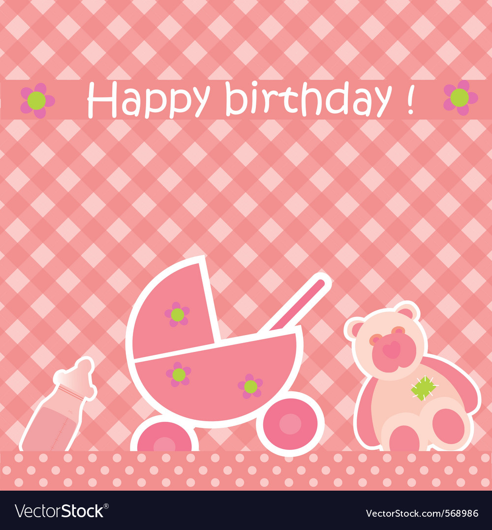 Greeting card with birthday