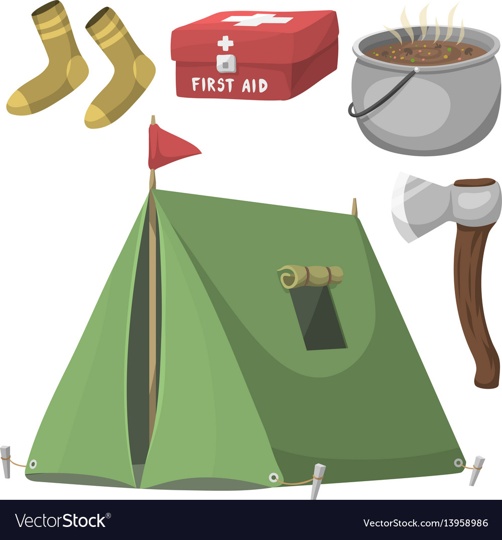 Hiking camping equipment base camp gear and