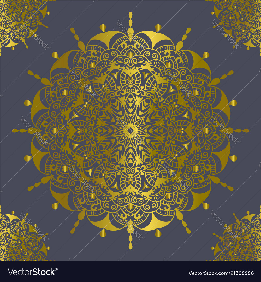 Mandala vintage decorations elements gold color
