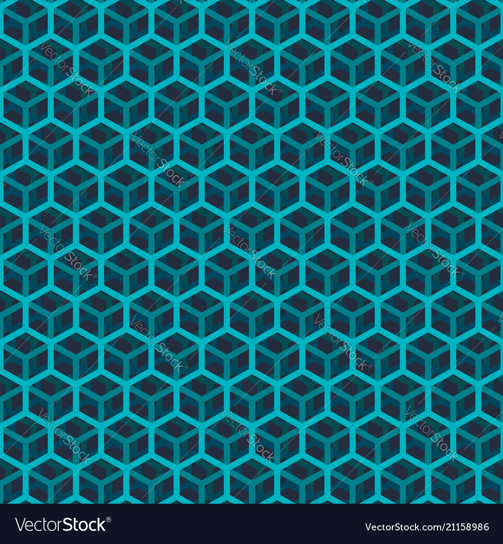 Seamless green cube pattern