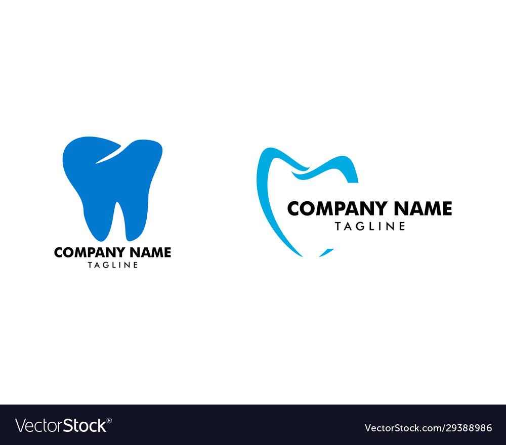 Set dental logo template design