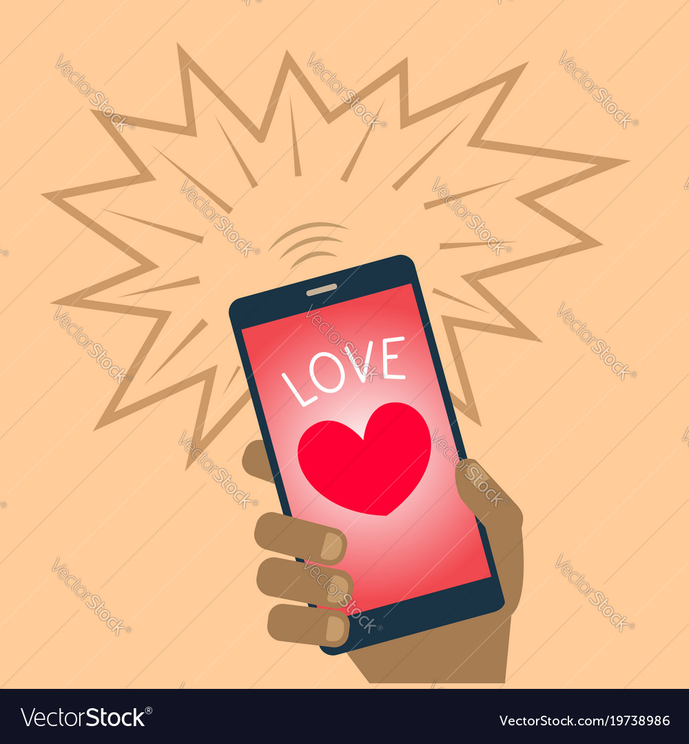 Valentine heart mobile phone