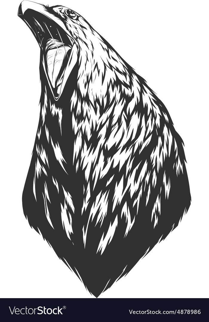 With crow head vector image