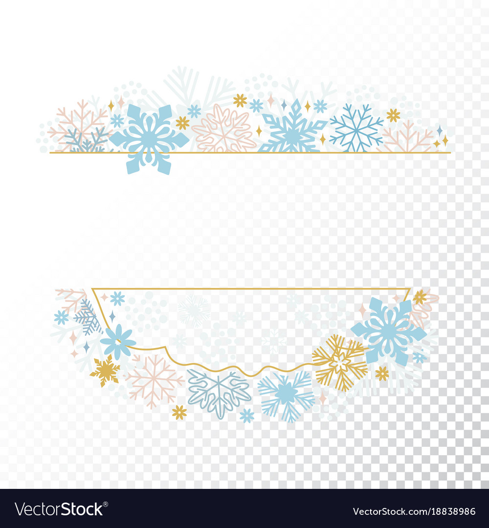 Xmas card snowflake frame transparent background