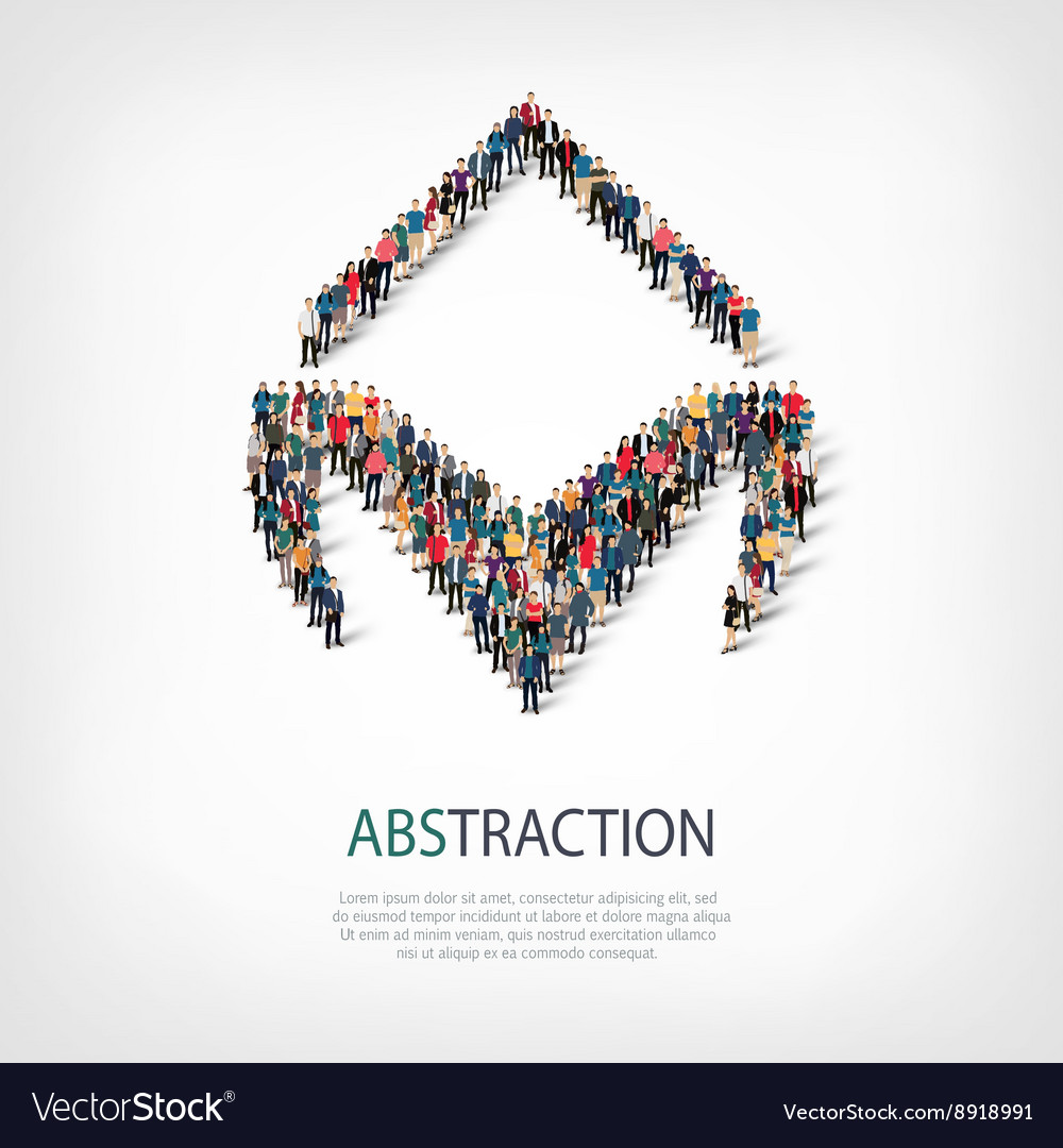 Abstraction people 3d