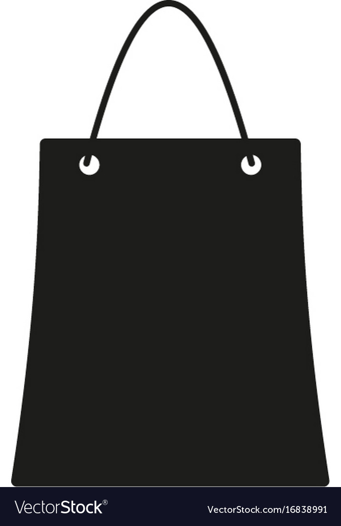 Bag sign black icon on white