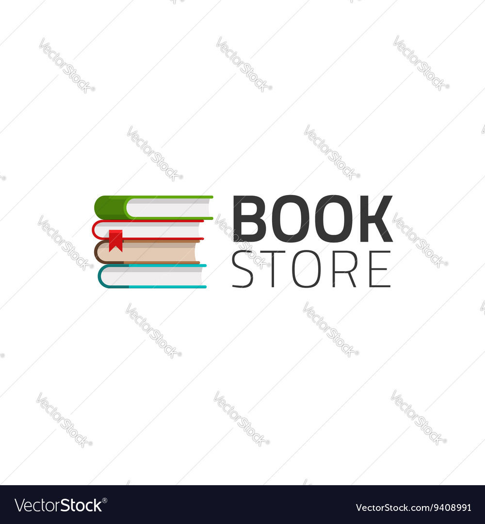 Bookstore logo symbol isolated on white