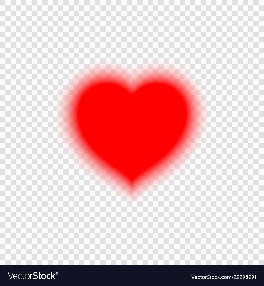 Bright neon heart