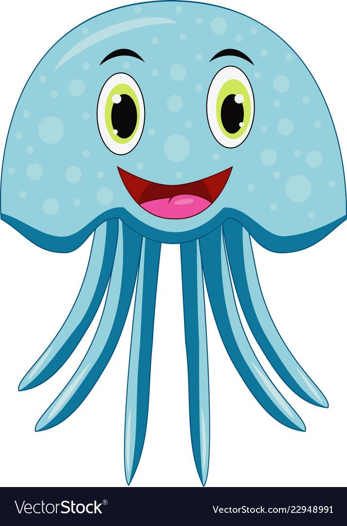 Cute jellyfish cartoon