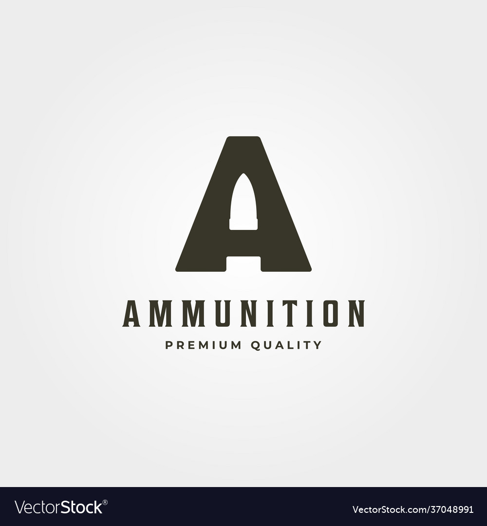 Initial letter a bullet logo icon symbol minimal