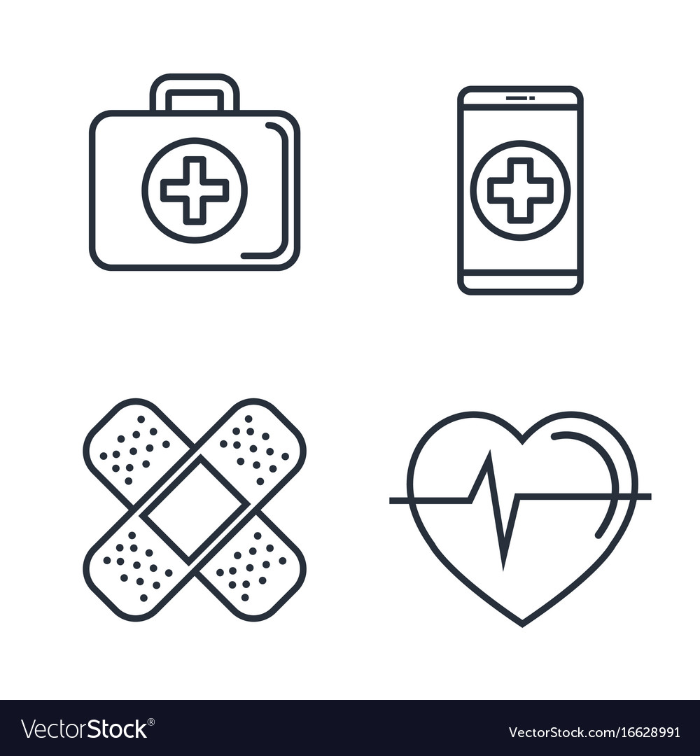Medical related objects vector image