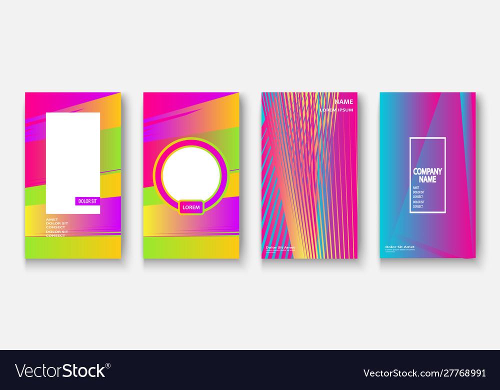 Modern business geometric template covers