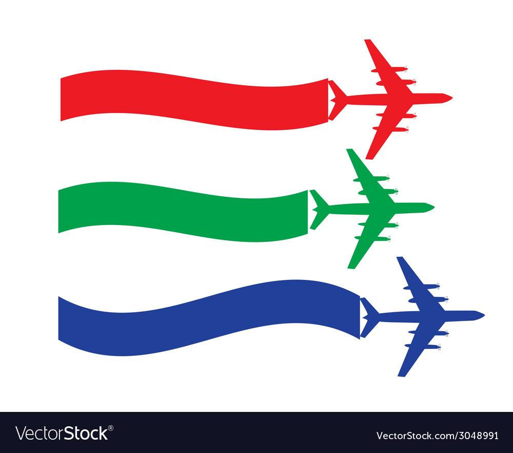 Retro Airplane Banner