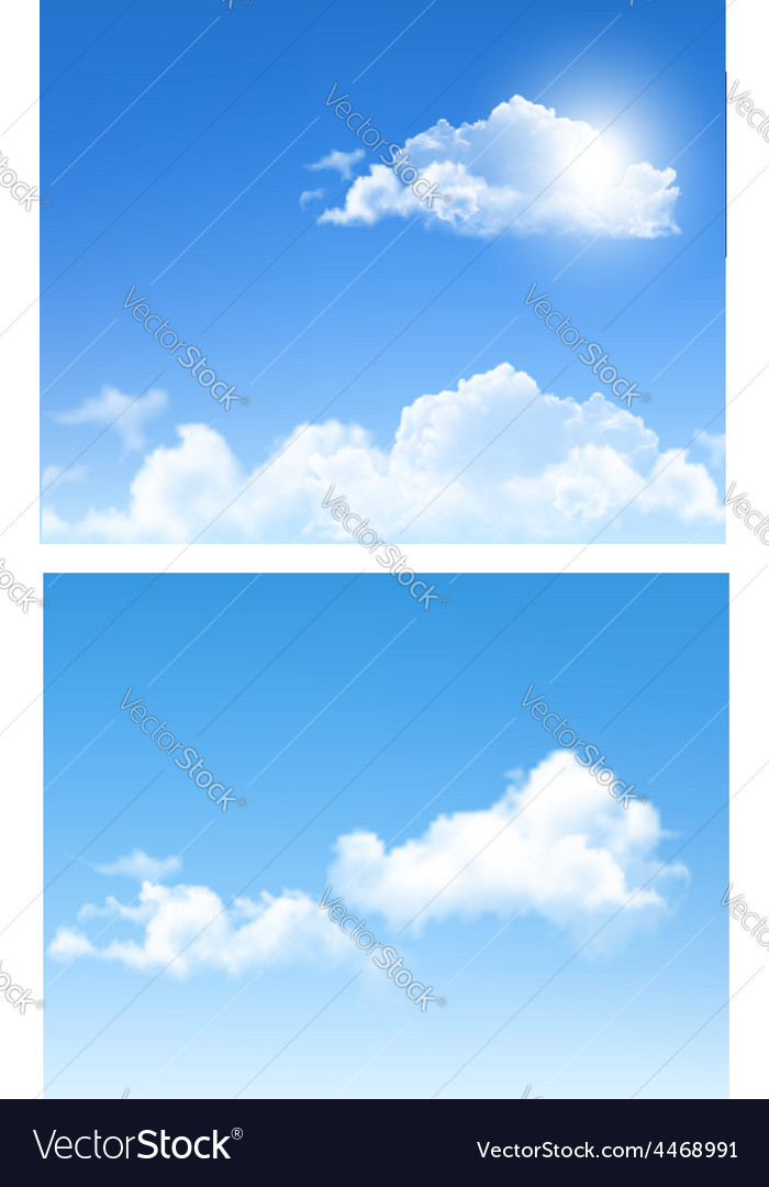 Set of nature backgrounds with cloud and sky