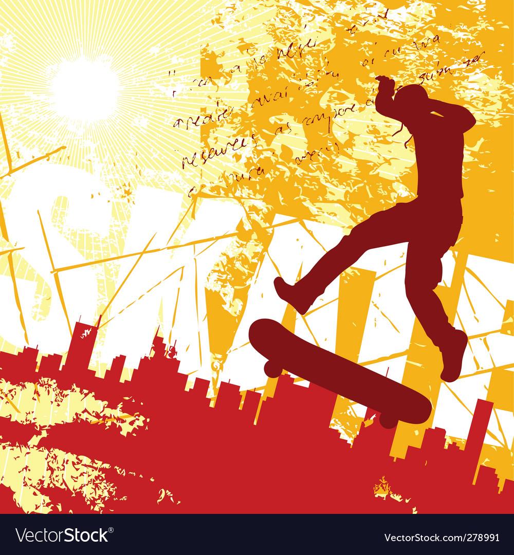 Urban skater vector image
