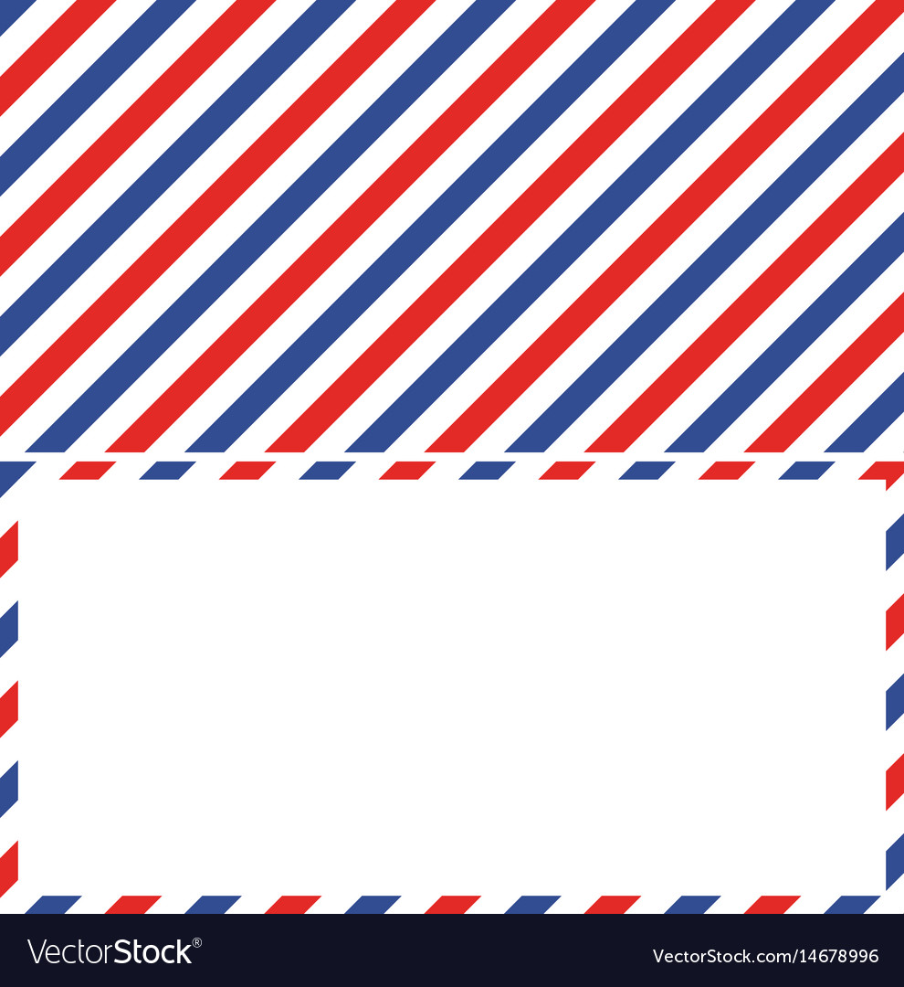 Air mail background and frame envelope letter