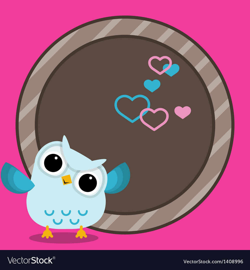 Baby frame with owl