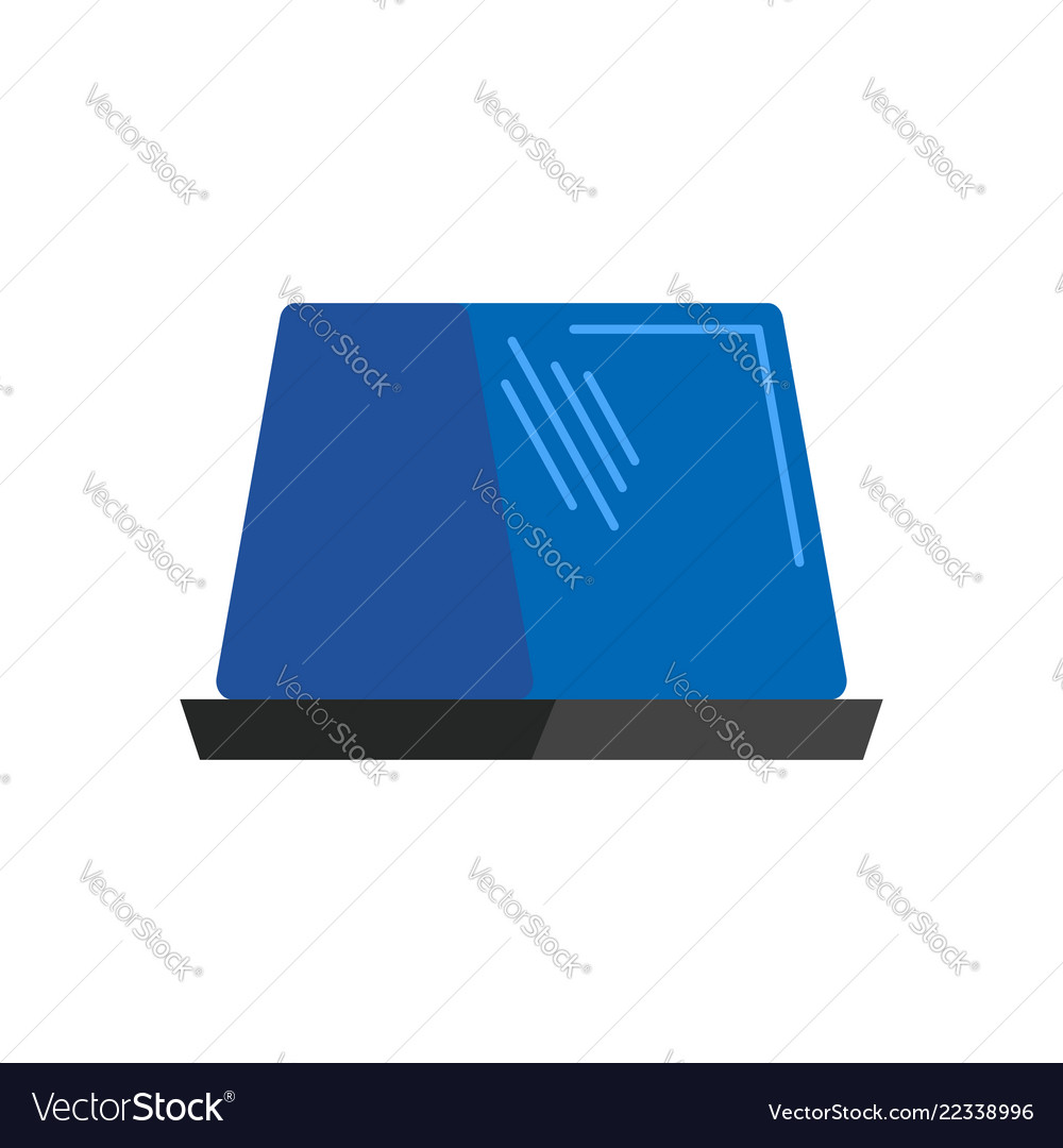 Car blue flasher light sign isolated