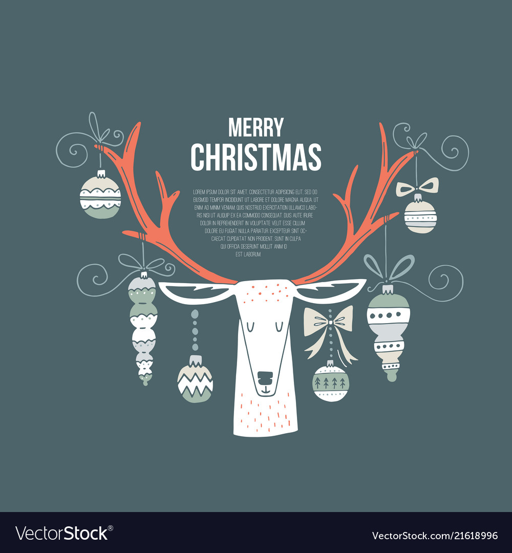 Christmas concept with a deer