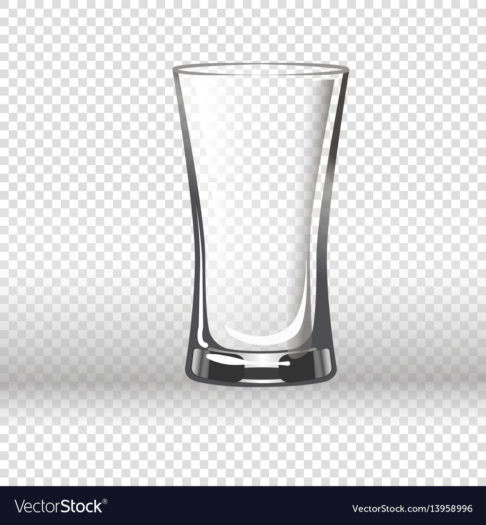 Empty drinking glass isolated on transparent