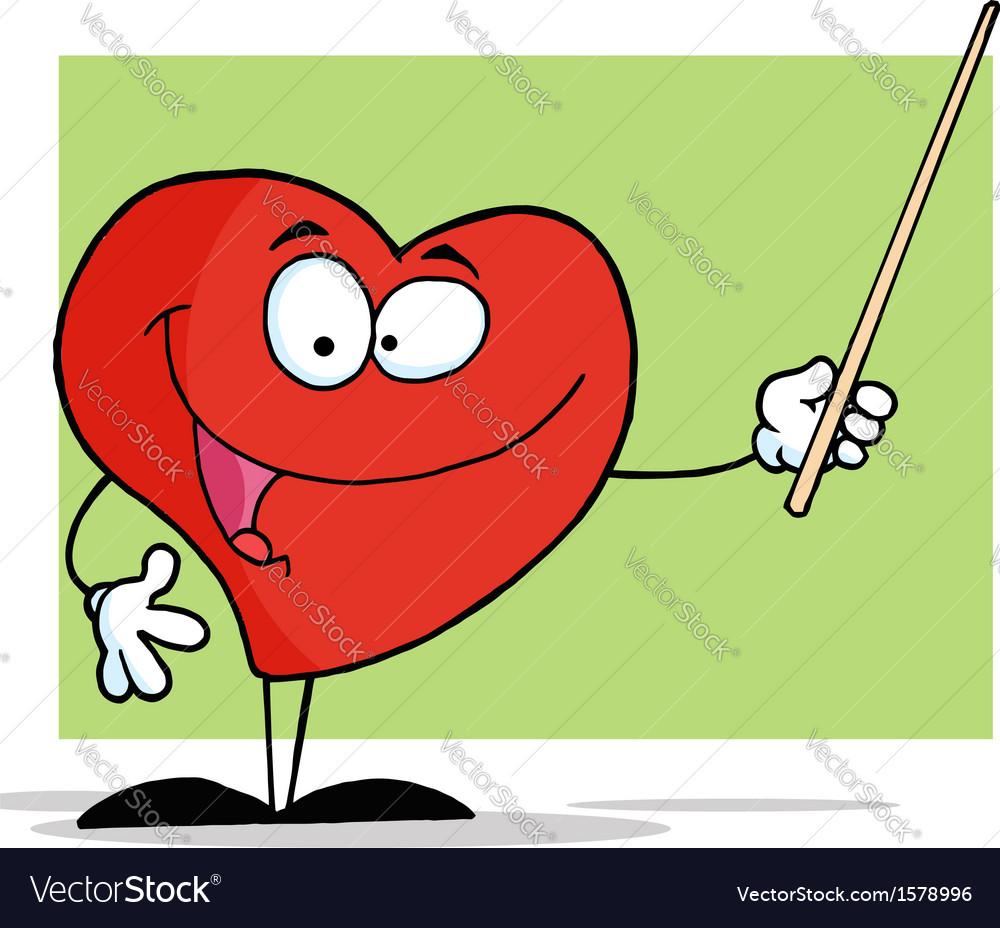 Heart Teacher Cartoon Royalty Free Vector Image