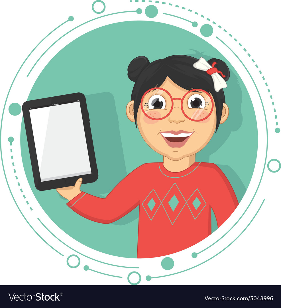 Of A Girl With A Tablet
