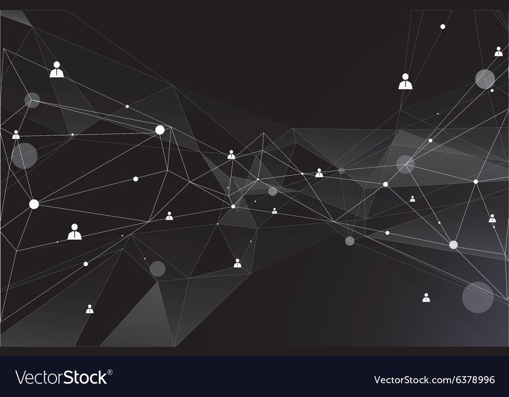 Particles and human connection vector image