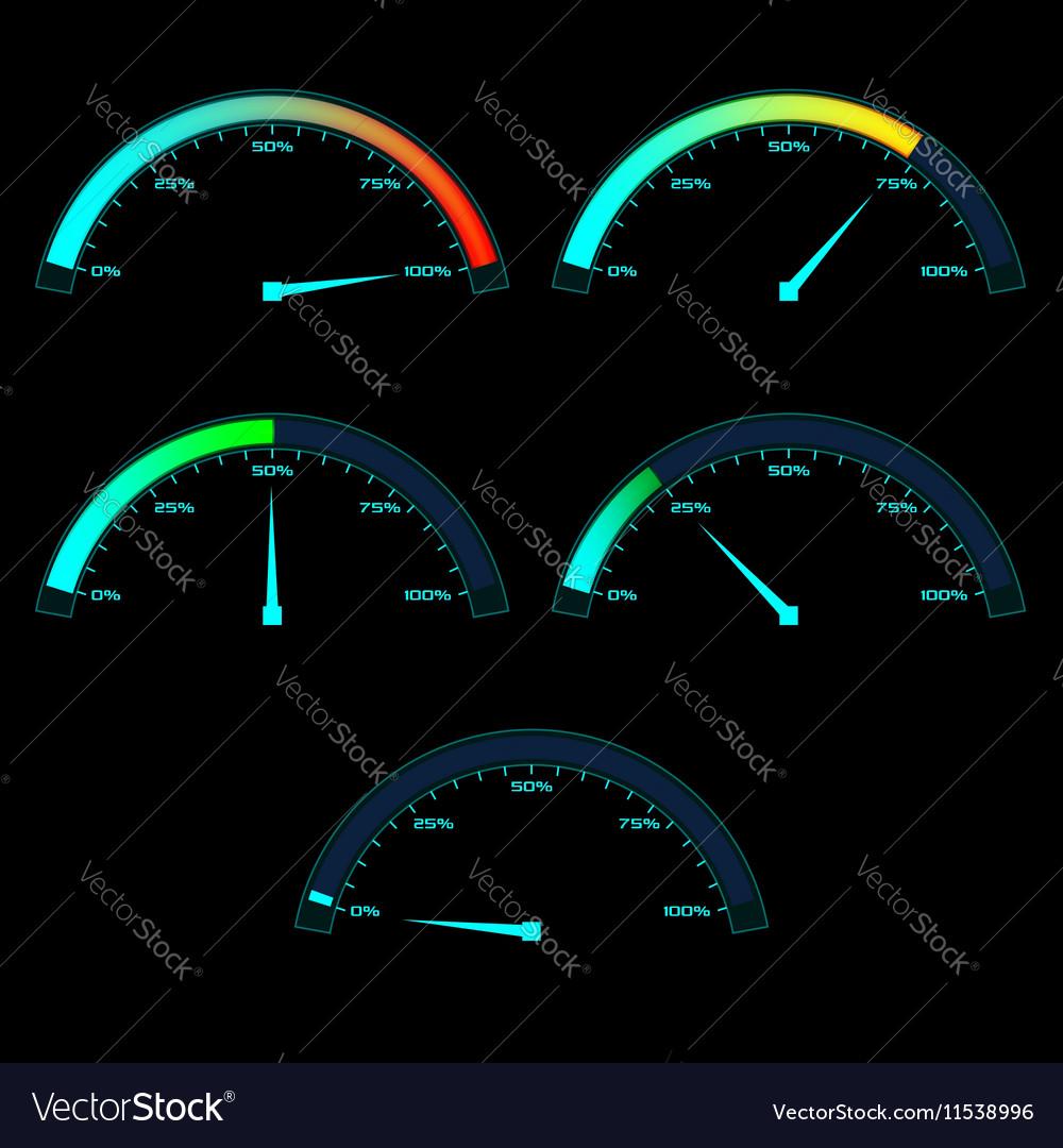 Power or Speed Meter Dashboard Gauge