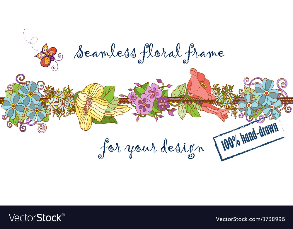 Retro seamless natural floral pattern Colorful