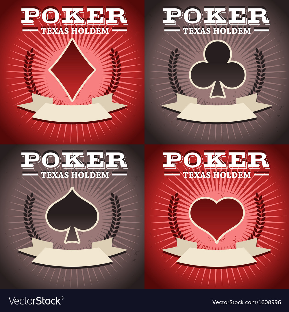 Set of Poker Backgrounds