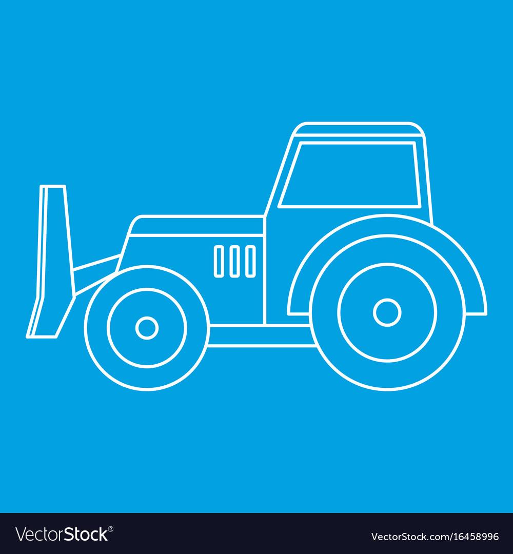 Skid steer loader icon outline vector image