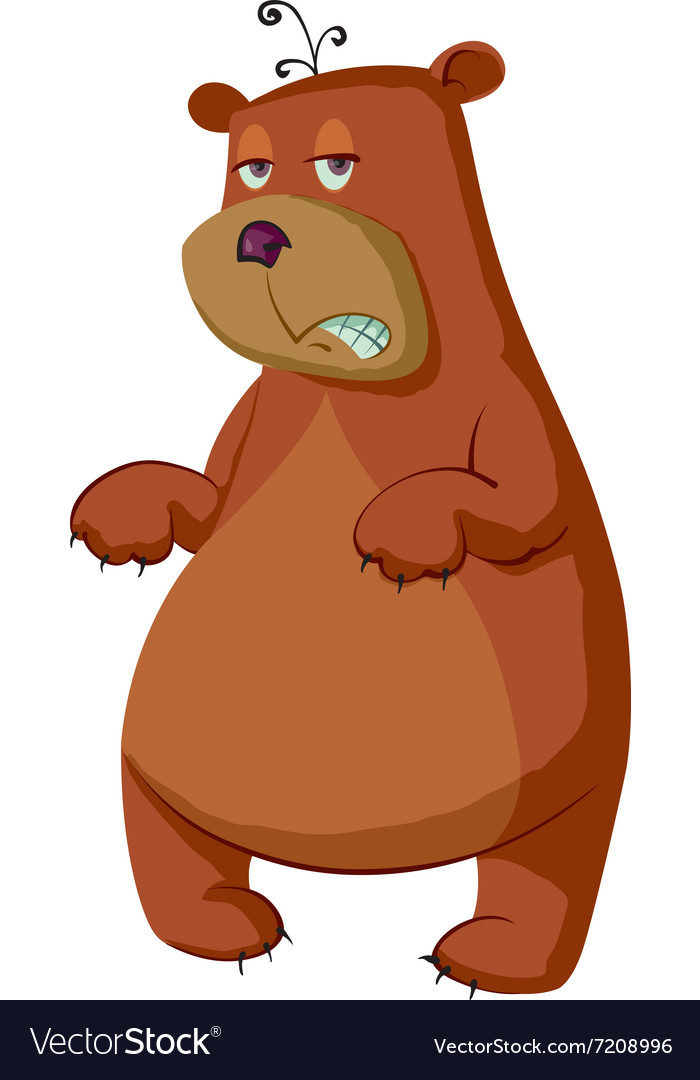 Sleepy bear cartoon vector image