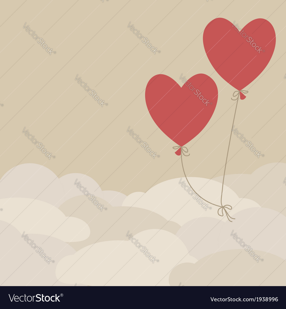valentine card template royalty free vector image