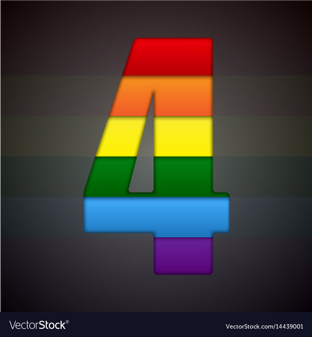 Abstract sign of rainbow lgbt community